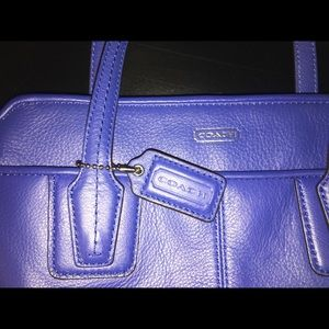 Cobalt Blue Small Coach Bag